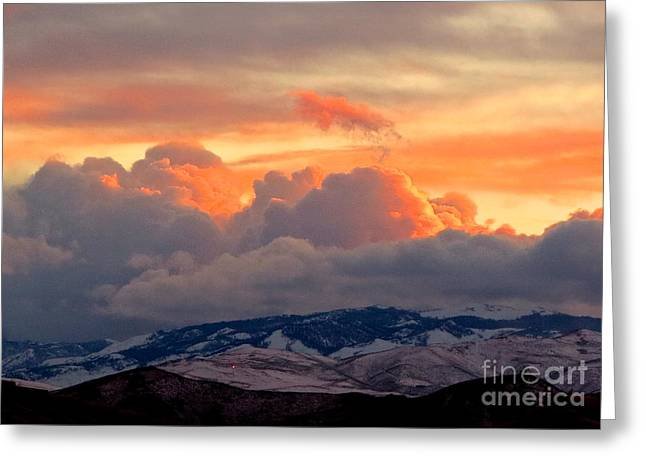 A Lovely Stormy Susnset Greeting Card by Phyllis Kaltenbach