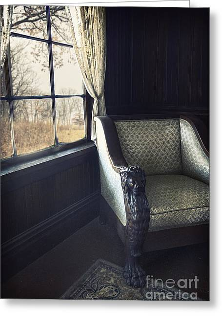 Empty Chairs Greeting Cards - A Lovely View from the Window Greeting Card by Margie Hurwich