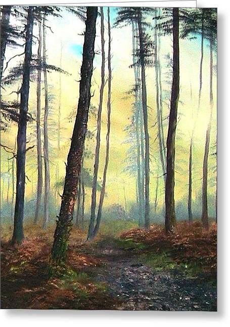 Sledge Training Greeting Cards - A Lovely Walk on Cannock Chase Greeting Card by Jean Walker