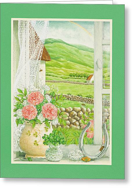 A Lucky View Greeting Card by Lynn Bywaters
