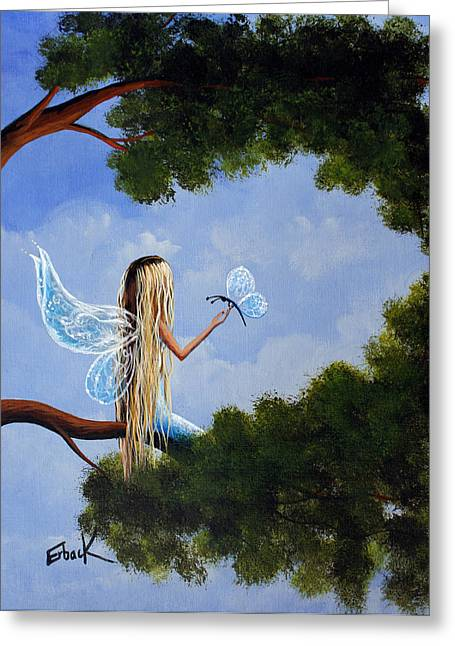 Pop Surrealism Paintings Greeting Cards - A Magical Daydream Original Artwork Greeting Card by Shawna Erback