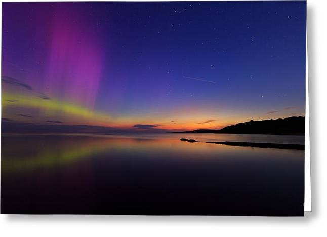 Northern Lights Greeting Cards - A Majestic Sky Greeting Card by Everet Regal