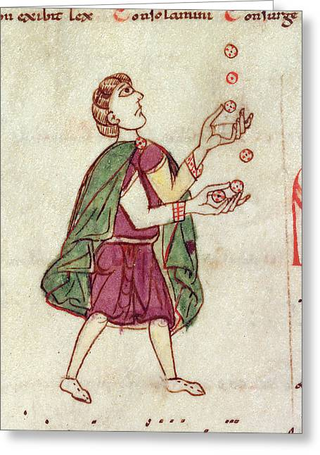 A Man Juggling Greeting Card by British Library