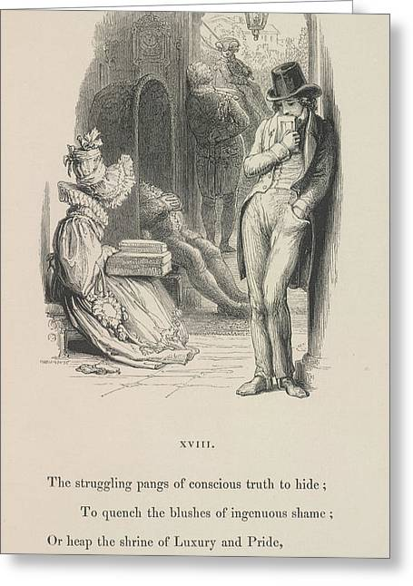 A Man Thinking Greeting Card by British Library