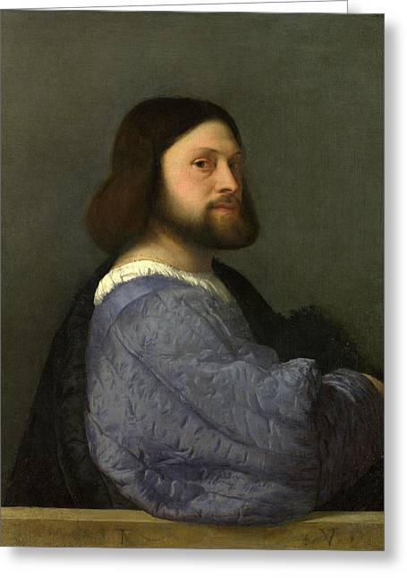 A Man With A Quilted Sleeve Greeting Card by Titian