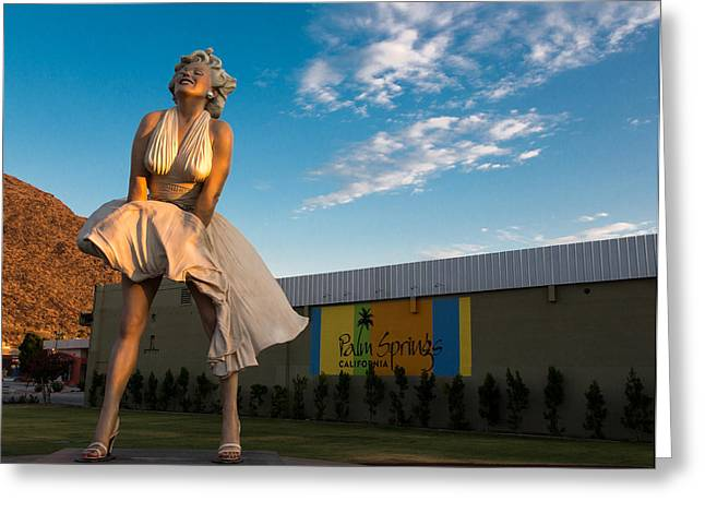 Desert Photography Greeting Cards - A Marilyn Morning Greeting Card by John Daly