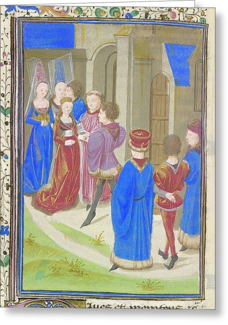 A Marriage Scene Greeting Card by British Library