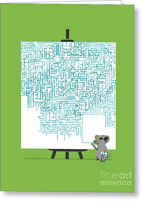 Labyrinth Greeting Cards - A masterpiece Greeting Card by Budi Kwan