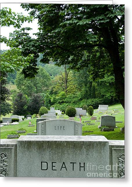 Funeral Greeting Cards - A Matter of Life and Death Greeting Card by Amy Cicconi