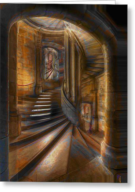 Doorway Digital Greeting Cards - A Maze In Greeting Card by  Fli Art