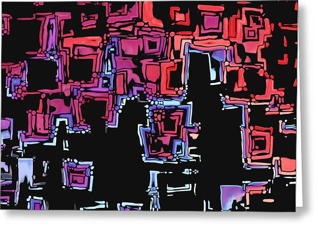 Tricolored Greeting Cards - A Maze Zing - 01c07a Greeting Card by Variance Collections