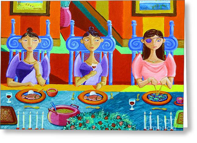 Filipino Arts Greeting Cards - A Meal without Rice Greeting Card by Paul Hilario