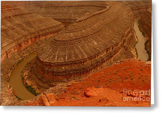 Goosenecks State Park Greeting Cards - A meander Of The Goosenecks Greeting Card by Christiane Schulze Art And Photography