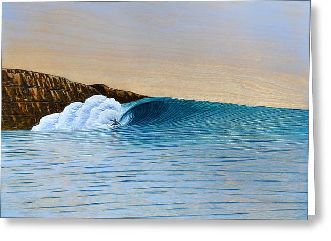 Surfer Mixed Media Greeting Cards - A Meeting of the Elements Greeting Card by Nathan Ledyard