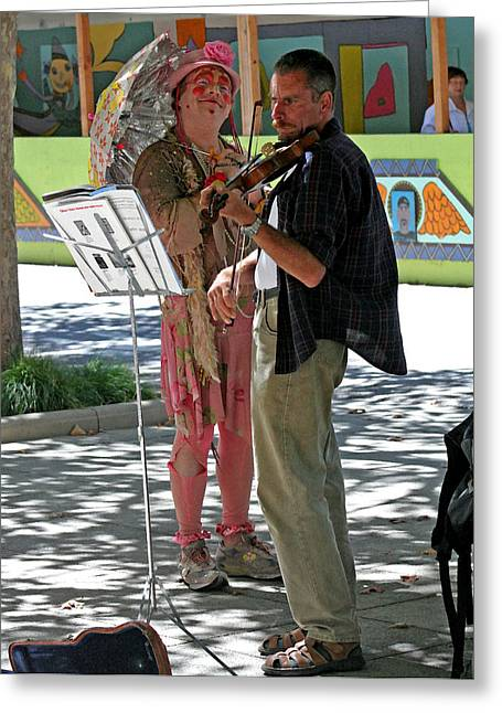 Santa Cruz Art Greeting Cards - A Melody For Me Greeting Card by Joseph Coulombe