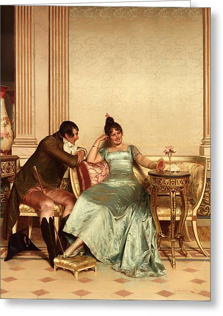 Ball Gown Greeting Cards - A Merry Jest Greeting Card by Frederic Soulacroix