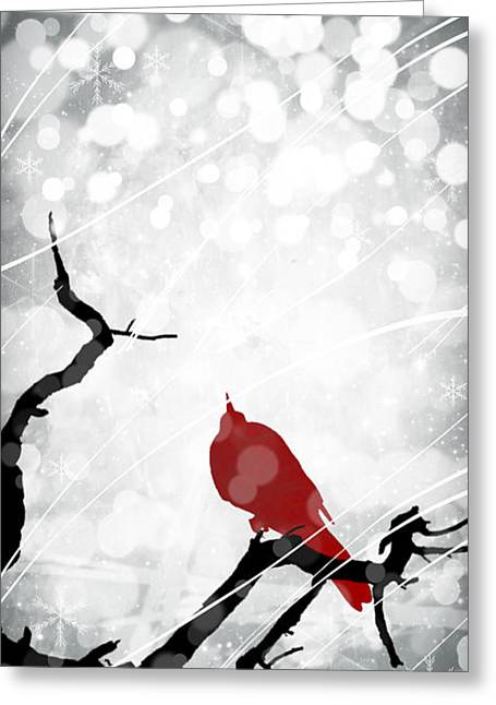 Windy Mixed Media Greeting Cards - A Merry Little Christmas 2 Greeting Card by Melissa Smith