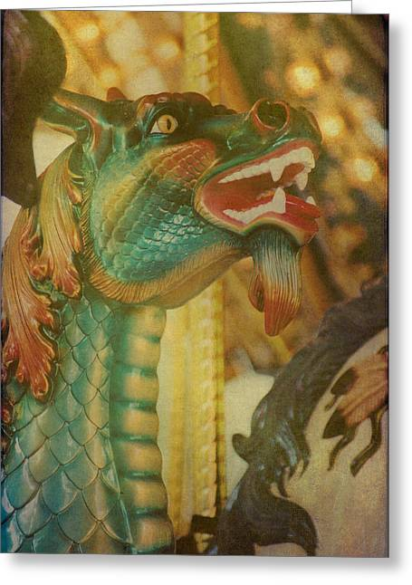 Soft Light Greeting Cards - A Mighty Dragon Greeting Card by Jan Amiss Photography