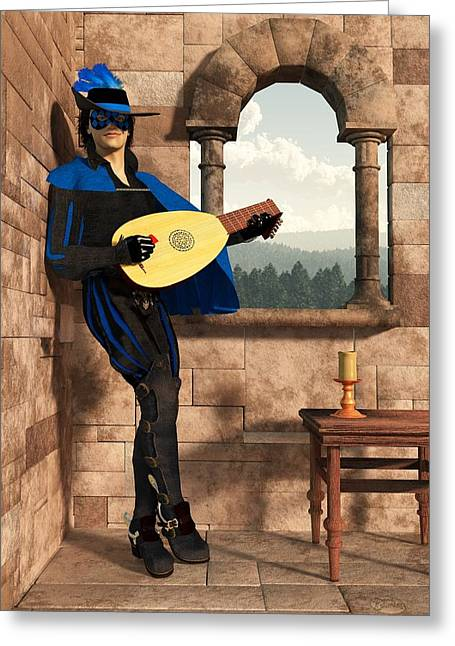 Last Stand Greeting Cards - A Minstrel Named Rynstrel. Greeting Card by Daniel Eskridge