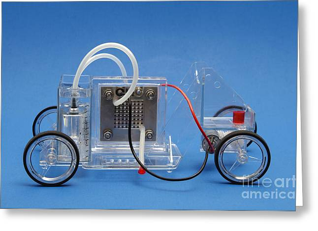 Reversible Greeting Cards - A Model Fuel Cell Car Greeting Card by GIPhotoStock