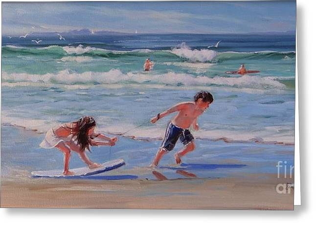 Beach Landscape Greeting Cards - A Moment in Time Greeting Card by Laura Lee Zanghetti