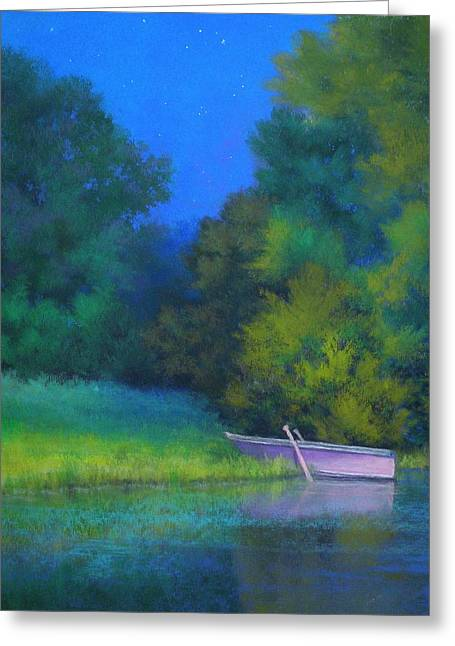 Row Pastels Greeting Cards - A Moment in Time Greeting Card by Paula Ann Ford