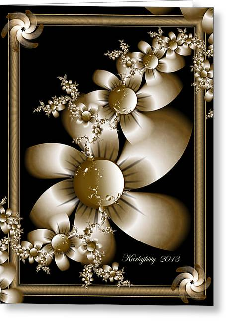 Karlajkitty Digital Art Greeting Cards - A Moment Of Peace Greeting Card by Karla White