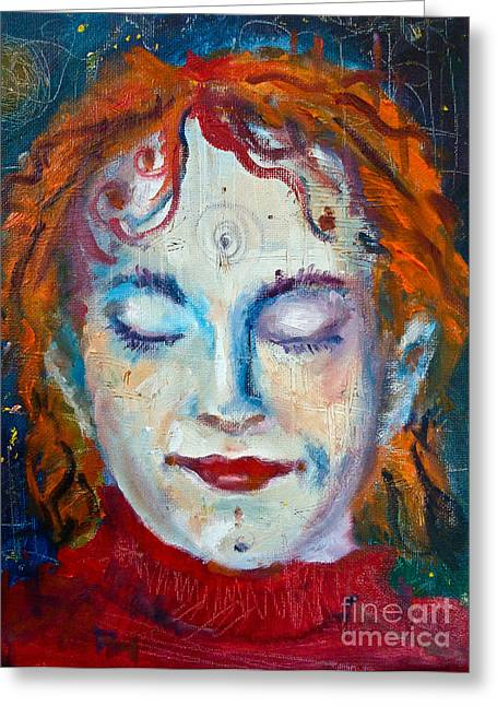 Oil On Canvas Board Greeting Cards - A moment of stillness Greeting Card by Maxim Komissarchik