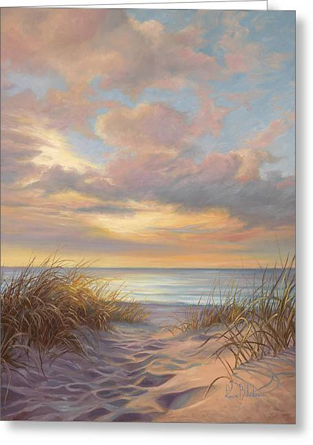 Beach Scenery Greeting Cards - A Moment Of Tranquility Greeting Card by Lucie Bilodeau