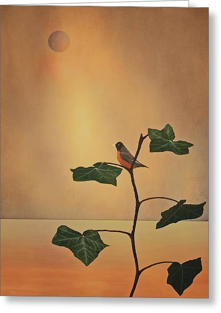 Bird On Tree Greeting Cards - A Moment Of Zen Greeting Card by Tom York Images
