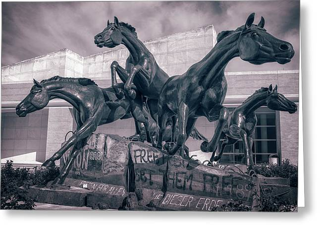 A Monument To Freedom II Greeting Card by Joan Carroll