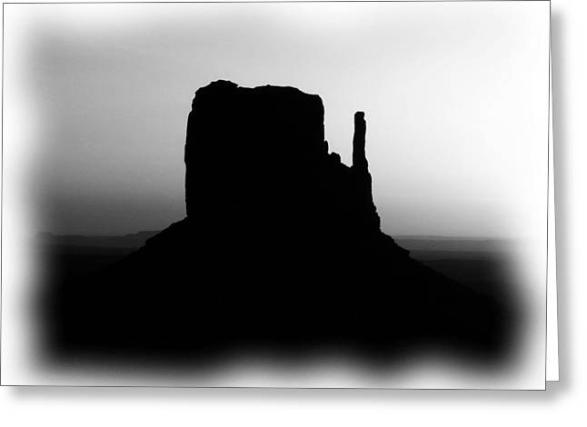 White Mittens Greeting Cards - A Monumental Silhouette 2 BW Greeting Card by Mel Steinhauer
