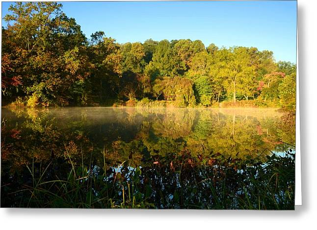 Holmdel Greeting Cards - A Morning To Reflect Greeting Card by Angie Tirado