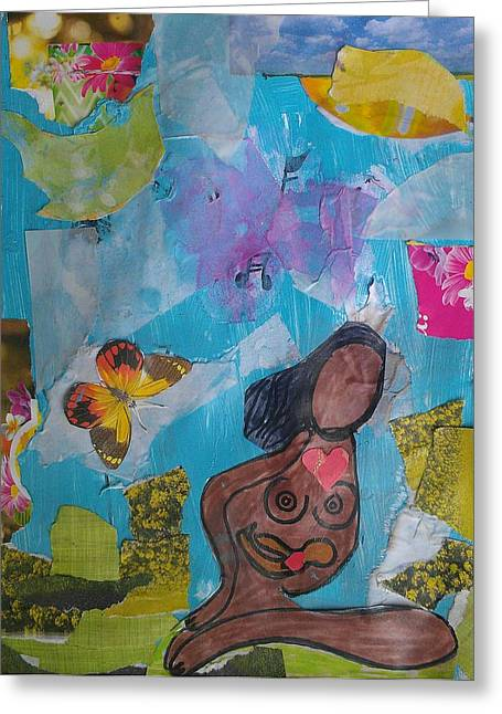 Caring Mother Mixed Media Greeting Cards - A Mothers LOVE Greeting Card by Ana Julia Fishman
