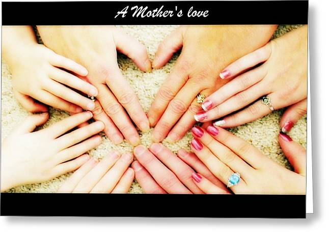 Universal Mother Greeting Cards - A Mothers Love Greeting Card by Michelle Frizzell-Thompson