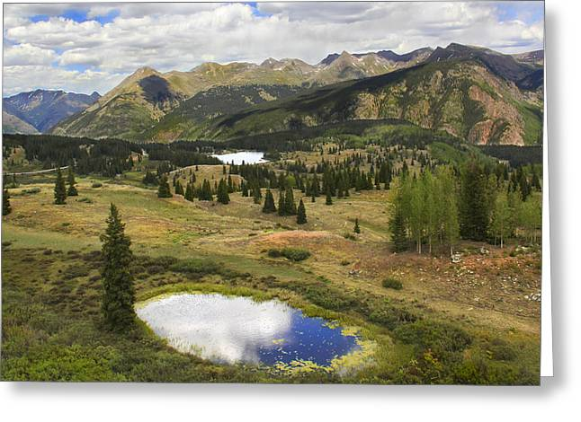 Colorado Greeting Cards - A Mountain Drive in Colorado  Greeting Card by Mike McGlothlen