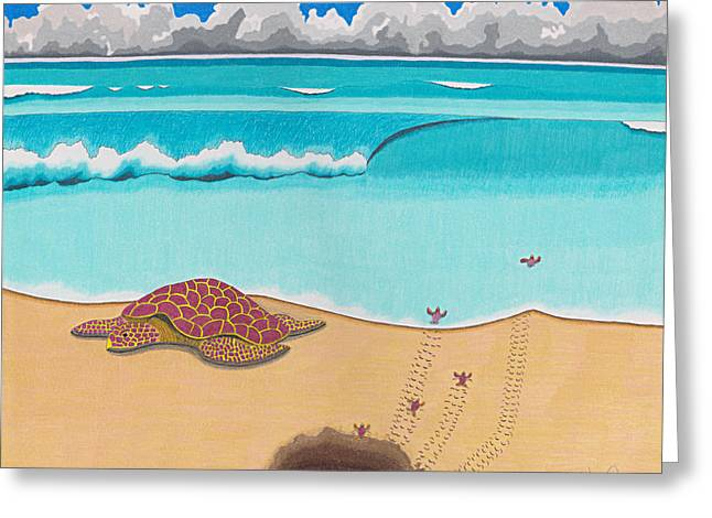 Sand Storm Drawings Greeting Cards - A New Beginning Greeting Card by John Wiegand
