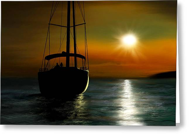 Water Vessels Greeting Cards - A New Beginning Greeting Card by Ron Grafe