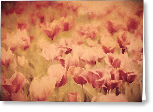 Floral Digital Art Greeting Cards - A New Beginning  Greeting Card by Tina Baxter