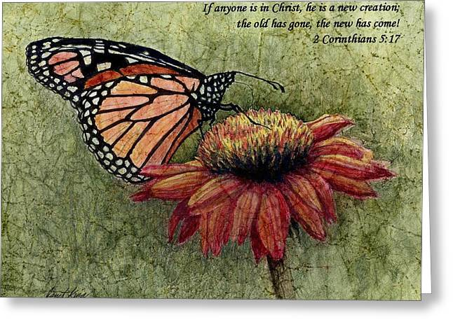 Janet King Greeting Cards - A New Creation from a butterfly in my garden Greeting Card by Janet King