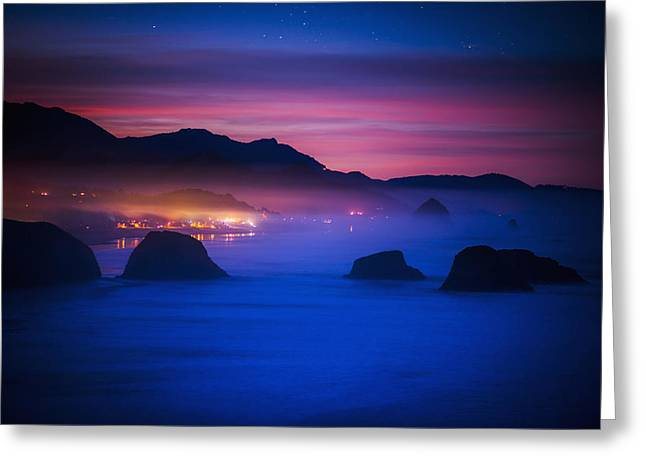 Ethereal Beach Scene Greeting Cards - A New Day Begins On The West Coast Greeting Card by Robert L. Potts
