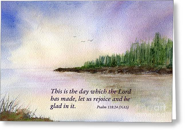 Bible Mixed Media Greeting Cards - A New Day Greeting Card by Diane Hall