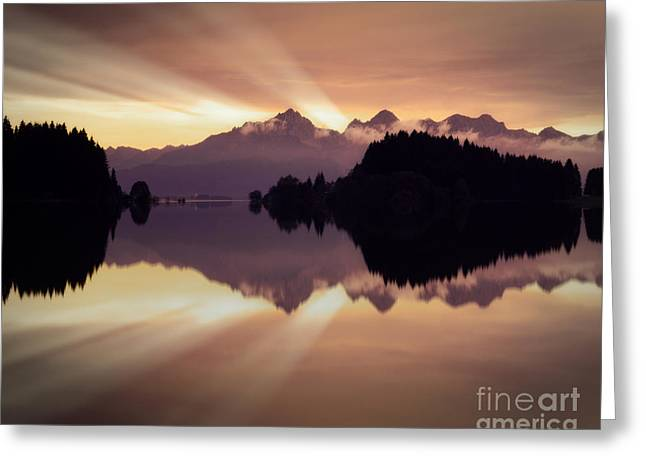 Peaceful Scene Greeting Cards - A New Day Greeting Card by Edmund Nagele