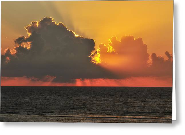 Sun Breaking Through Clouds Greeting Cards - A New Day Has Arrived Greeting Card by Photography  By Sai