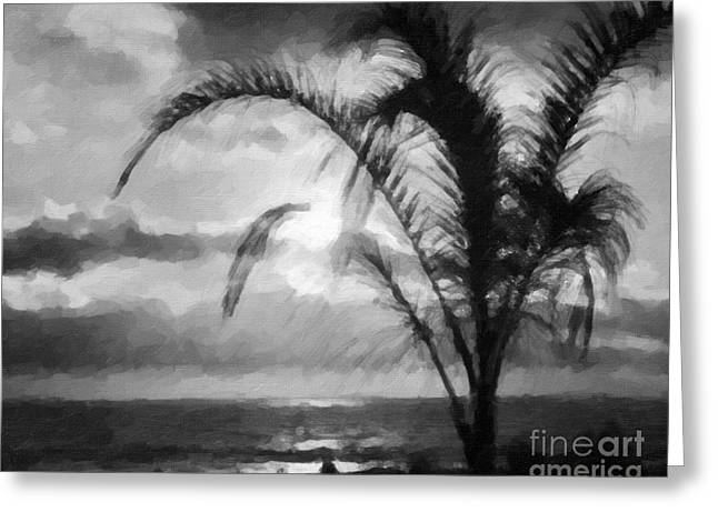 Black_white Photography Greeting Cards - A new Day has begun Greeting Card by Gerlinde Keating - Keating Associates Inc