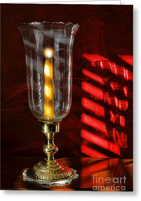 Hurricane Lamp Greeting Cards - A New Day Has Begun Greeting Card by Olivier Le Queinec