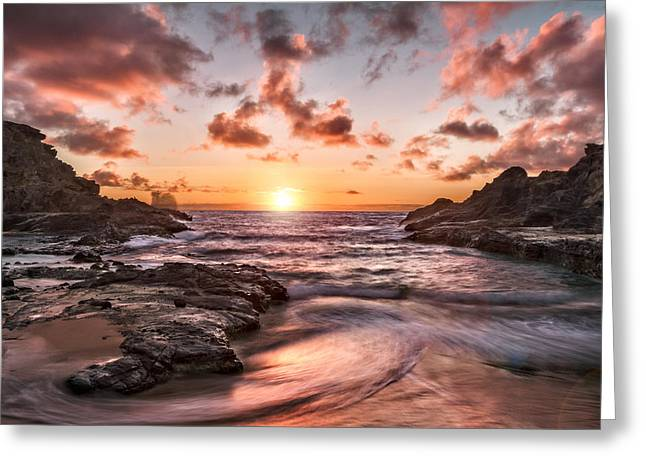 Halona Greeting Cards - A new day in paradise Greeting Card by Eduard Moldoveanu
