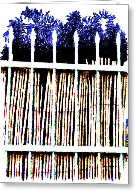 Bamboo Fence Greeting Cards - A new day will dawn for those who stand long Greeting Card by Steve Taylor