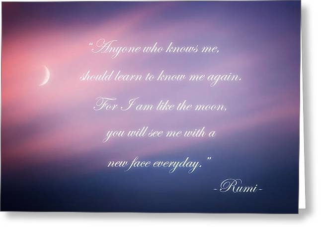 Rumi Greeting Cards - A new face Greeting Card by Bill  Wakeley