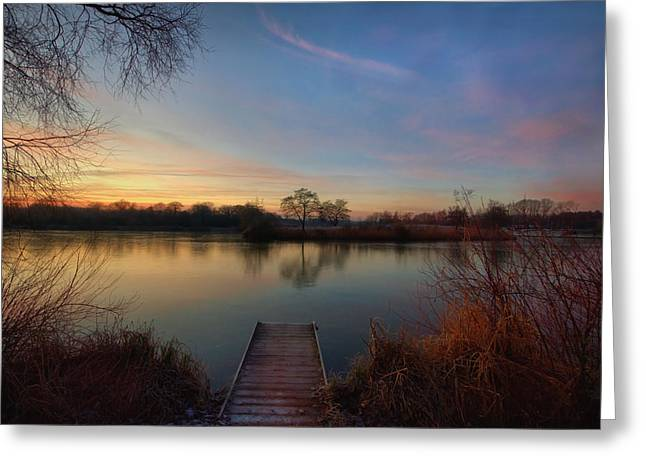 Cold Morning Sun Greeting Cards - A New Morn Dawns Greeting Card by Jason Green